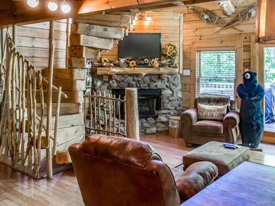 Photo for Unique wood cabin perfect for small family getaway