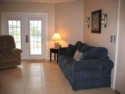 Living Room with Murphy Bed and Sleeper Sofa