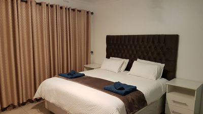 Spacious bedroom with super king bed. Clean linen provided