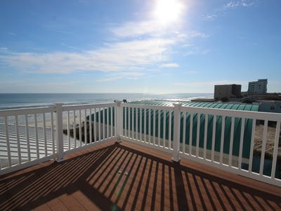 Photo for 4 BR/3BA Beautiful Oceanfront Family Home ocean front with private beach access