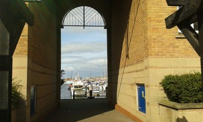 archway view of Marina