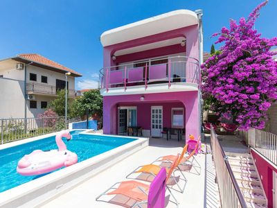 Photo for Two bedroom apartment near beach Seget Vranjica, Trogir (A-9429-d)