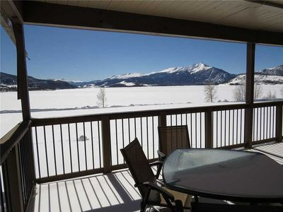 Photo for End Unit. Mountain Views, Patio, Gas Fireplace. Complex Hot Tub, Easy Drive to Resorts, Dining