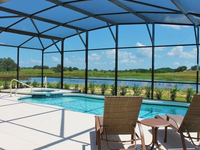 Photo for Leslie's Retreat at Solterra Resort | Lake View, South Facing Pool & Hot Tub/Spa, Extended Lanai, Two Master Suites, Games Room, Resort Amenities Included!