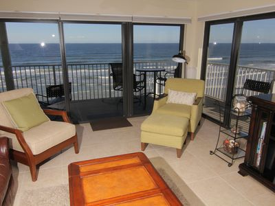 Photo for Sunrise Paradise, 2/2 Updated Corner Condo, Oceanfront on the No-Drive Beach!