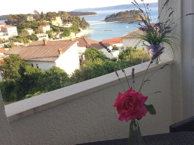 Photo for Studio flat with balcony and sea view Banjol (Rab)