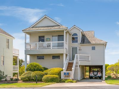 Photo for Beach Bungalow: Wonderful soundside home offers access to oceanfront beach club