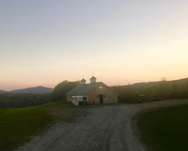 Photo for Idyllic: c.1842 farmhouse on 26 acres with breathtaking view of the mountains