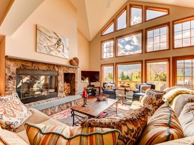 Photo for SH4: Luxurious StoneHill Townhome with magnificent ski slopes view, hot tub, and lots of space! Professionally managed and minutes from Santa's Village, StoryLand, skiing, hiking, and much more! DISCOUNTS ON LOCAL ACTIVITIES!
