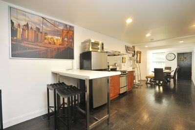 open kitchen with island area