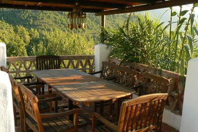 Dining table terrace