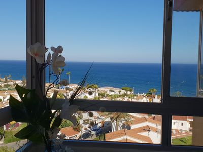 Photo for Apartment La Cala de Mijas Costa. Charming beach and all the amenities