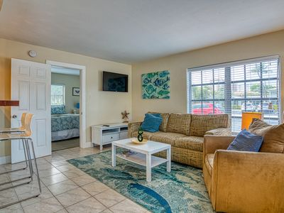 Photo for Pet-friendly condo on ground floor w/ shared pool - nearby access to beach!