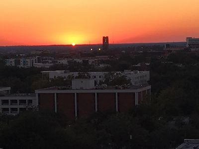 sunsets over UF campus