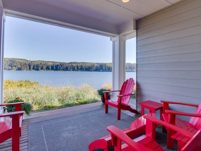 Photo for NEW LISTING! Stylish townhome right in Port Ludlow with incredible bay views!