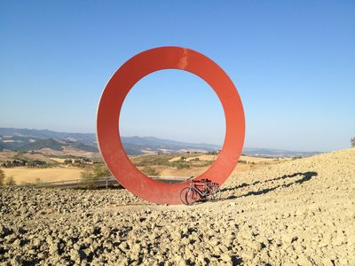 View to the Sea framed by one of Mauro Staccioli's Landscape Sculpture