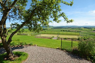 Play Tennis on this beautiful court with incredible views over the Earn Valley