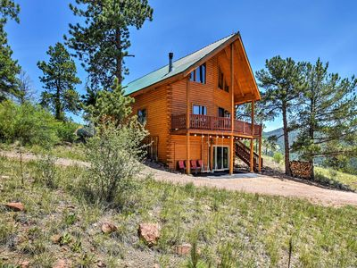 Photo for Cripple Creek Cabin w/Wraparound Deck & Mtn Views!