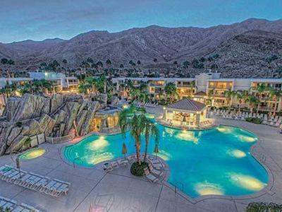 Photo for 1 BDRM~ Palm Canyon Resort and Spa~ WATERSLIDES/POOLS/SPA/DINING/SUN DECK & MORE