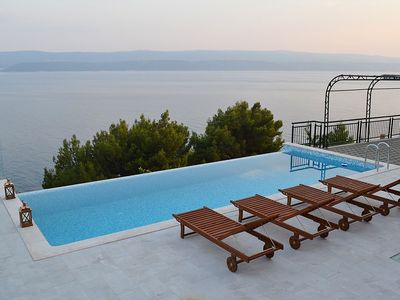 Photo for Sea view apartment with a shared pool & private terrace