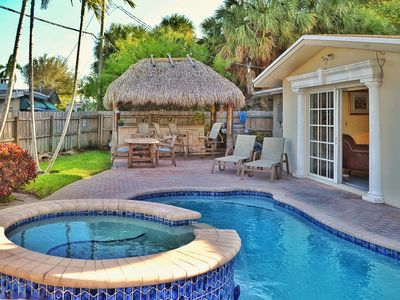 Photo for Private Waterfront Villa complete with Heated Pool, Hot Tub and Tiki Bar