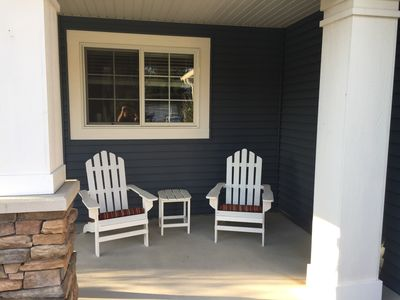 Porch swing waiting area