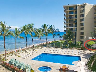 Photo for Only steps to the pool and beach! Oceanview Groundfloor ~ Suite 103