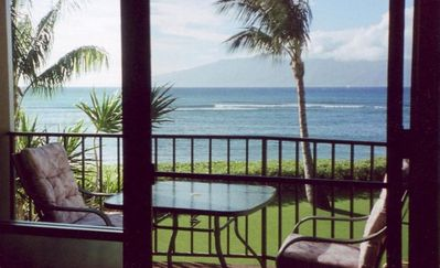View of lanai and the ocean