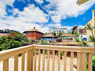 Master Balcony - Situated in the heart of Little Italy, enjoy the charming views of the neighborhood from the master balcony.