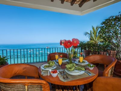Photo for Gorgeous Oceanfront Penthouse Above Famed La Palapa Restaurant