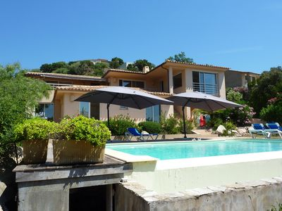 Photo for Luxury villa, exceptional sea and mountain views. pool, large garden