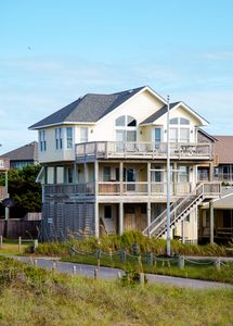 Photo for Beach lovers house in Hatteras Village just steps away from private beach
