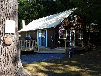 Photo for Your home away from home - cozy cabin on Sebago Lake in quiet Jordan Bay region
