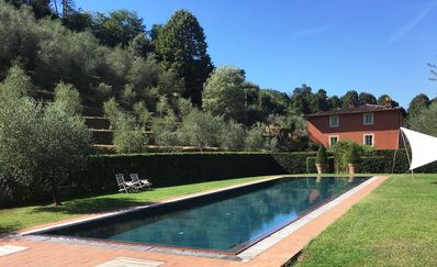 Photo for Private Villa with private pool, WIFI, A/C, TV, patio, panoramic view, parking, close to Lucca