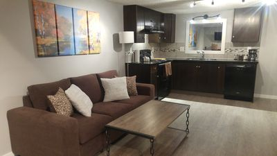 Photo for Canadian Inspired, Home Suite Home, 2bed, 1.5bath, full kitchen and fireplace
