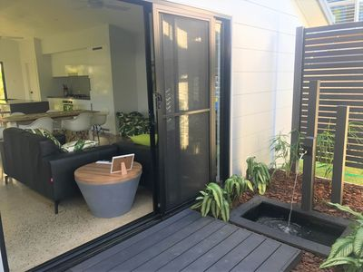 Garden and living areas