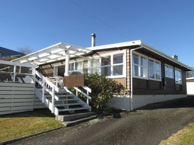 Photo for A real Kiwi Bach, large enough for the whole family and walking distance to Lake