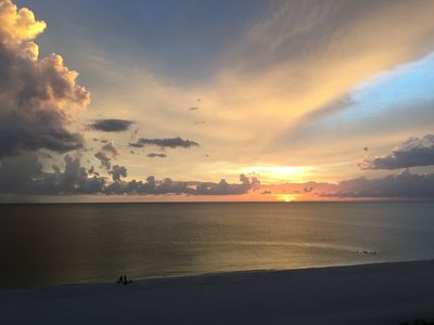 Gorgeous Marco Island sunset from private patio
