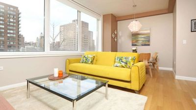 Photo for Designer-decorated luxury 1 bedroom  W/ Laundry In unit! Swimming Pool Gym BBQ deck!5133