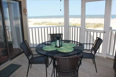 Panoramic Ocean Views from your very own screened porch.