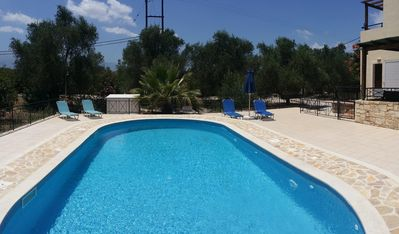 Photo for Villa near Almyrida ☀️ Private Pool Gated For Child Safety ☀️ FREE WiFi