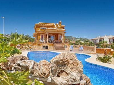 Photo for 10 bedroom Villa, sleeps 21 with Air Con, FREE WiFi and Walk to Beach & Shops