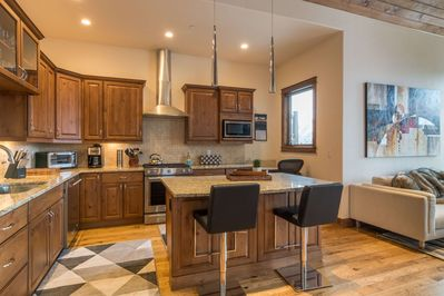 Well appointed kitchen with room to mingle