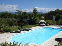 Really lovely villa with a beautiful garden and fantastic pool area.