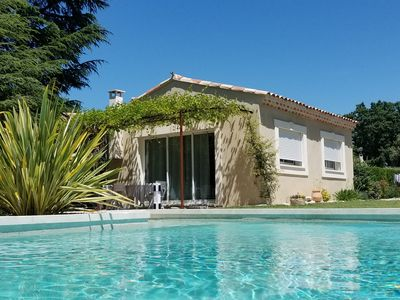 Photo for New cottage, with swimming pool facing the Luberon