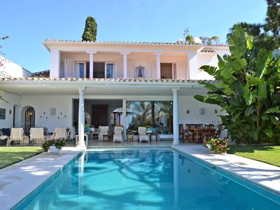 Photo for VILLA POLE POSITION , TWO STEPS TO MARBELLA CLUB HOTEL , HUGE PRIVATE POOL ,