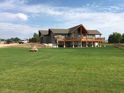 Rawhide Rendezvous is situated on a one-acre spot with lots of lawn and parking.