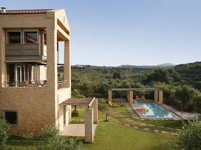 Photo for Luxury family friendly villa just 10 minutes walk from the beach with private po