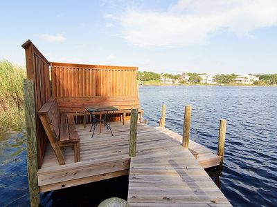 Picture from Dock ~ Seagrove Beach, FL - Relax with a book or enjoy tossing your fishing line into the lake!