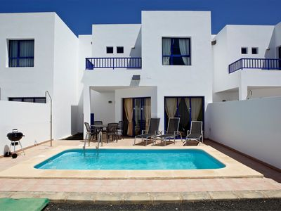 Photo for Villa with private pool, Sat. and access in Marina Rubicon 400 meters from Playa Dorada